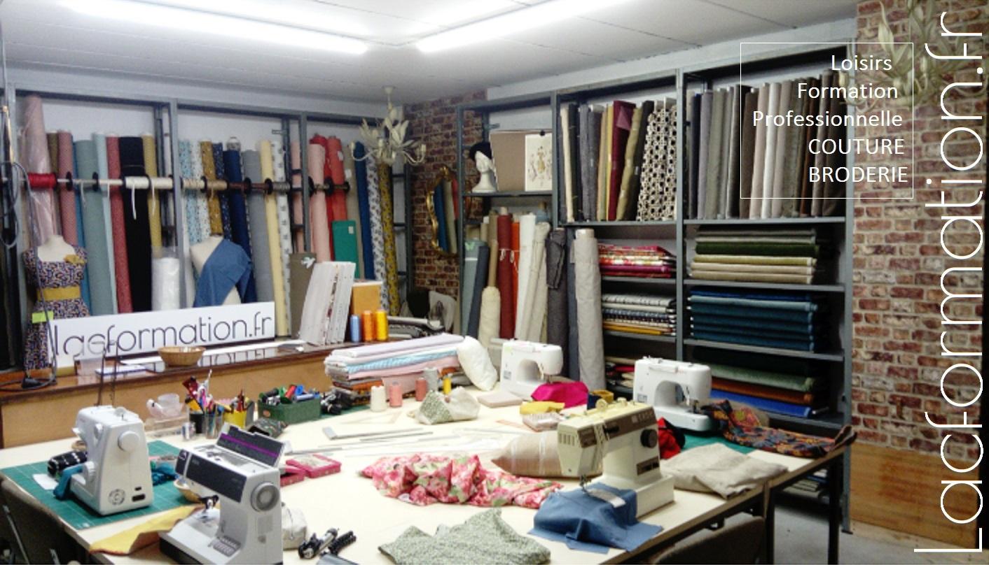 Lacformation apprentissage de la couture, métier de la mode et couture en ameublement